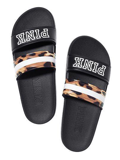 7b5af4f3ef3a Double Strap Sport Slide - PINK - Victoria s Secret