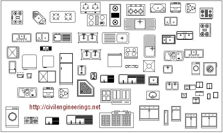 kitchen equipment cad block  free download cad blocks