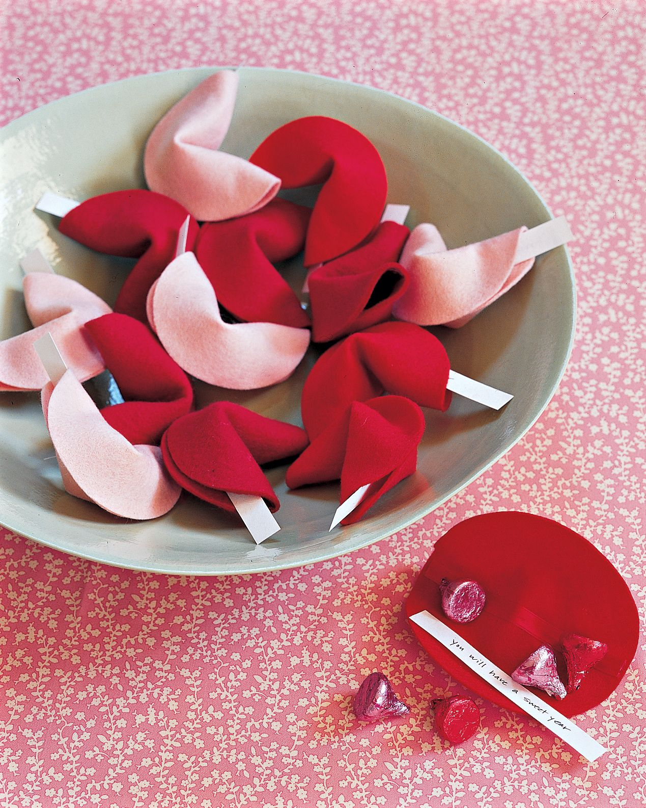 Share a secret message with your sweetie the DIY way. Make these felt fortune cookies this Valentine's Day. Follow Martha Stewart Living on Pinterest for more crafts at ms_living.