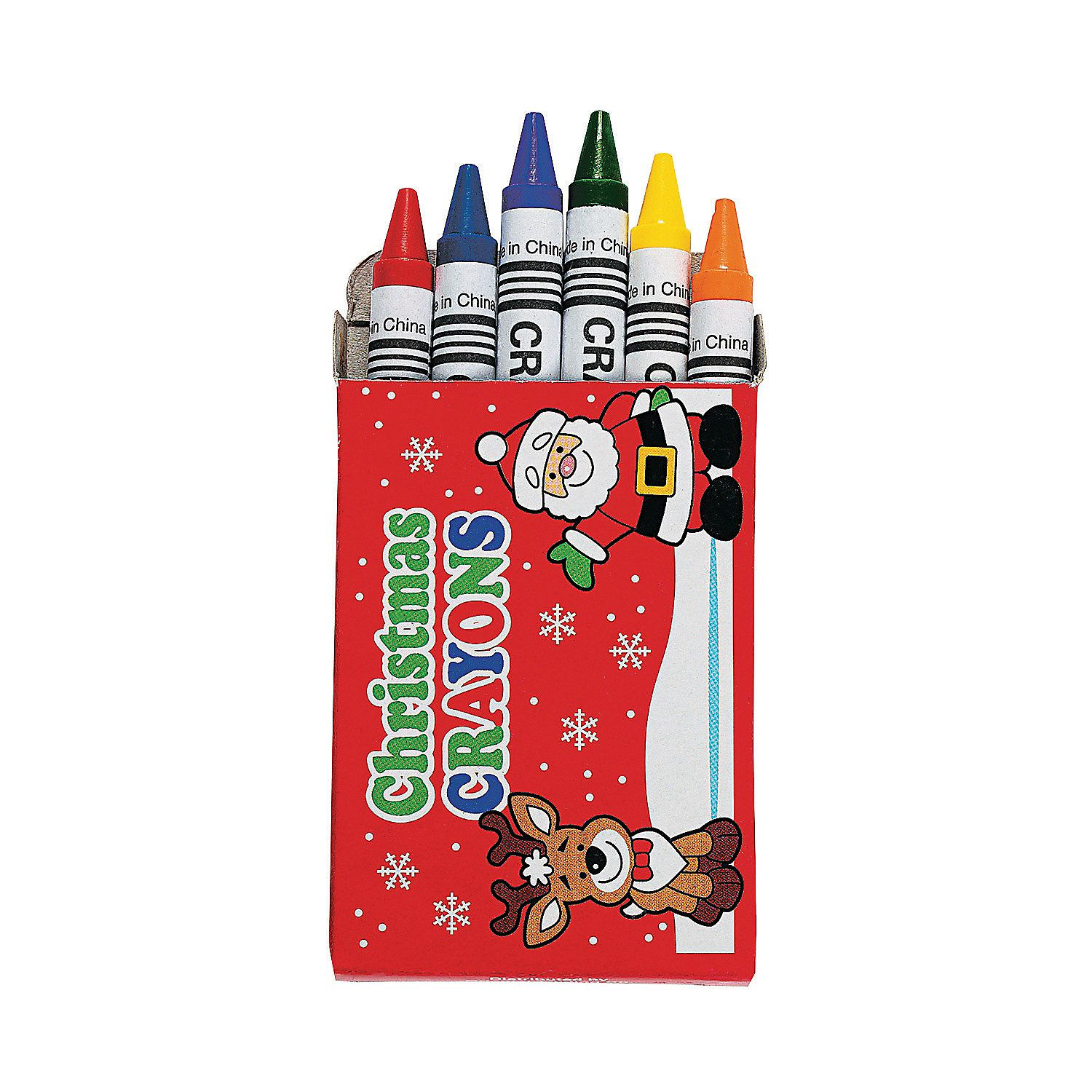 6 Color Holiday Crayons 48 Boxes Oriental Trading Christmas Coloring Books Christmas Crafts Christmas Stationery