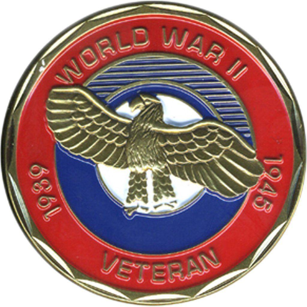 Collectible Veteran Service World War II Coin