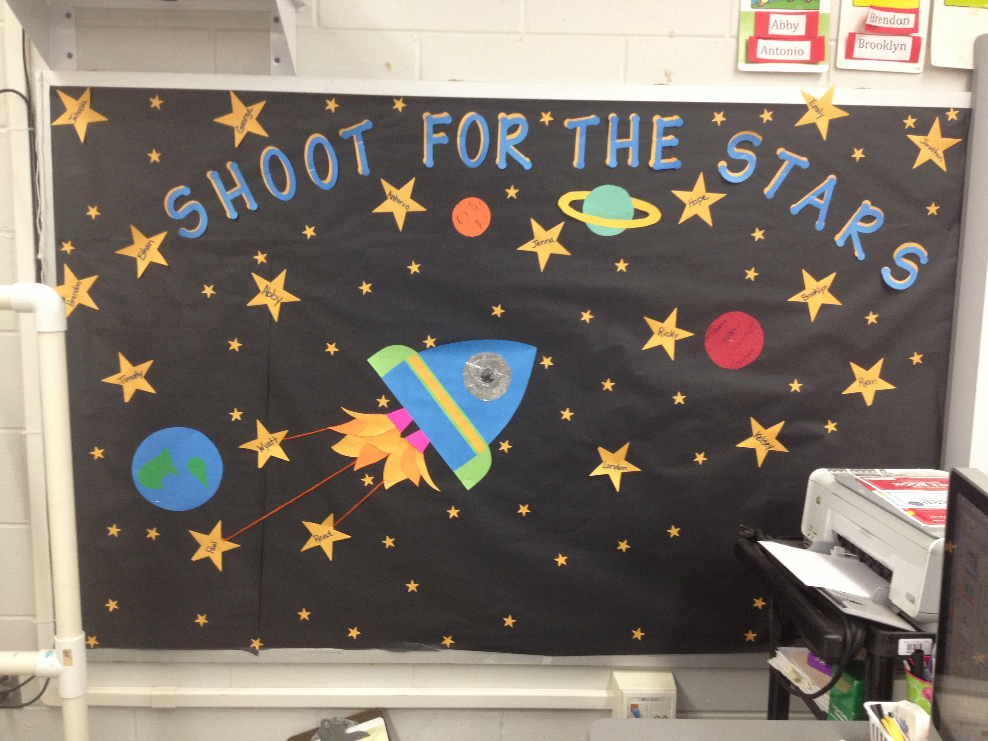 Classroom Decorations Bulletin Boards ~ The best space bulletin boards ideas on pinterest