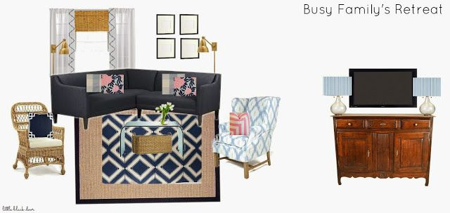 family room design board