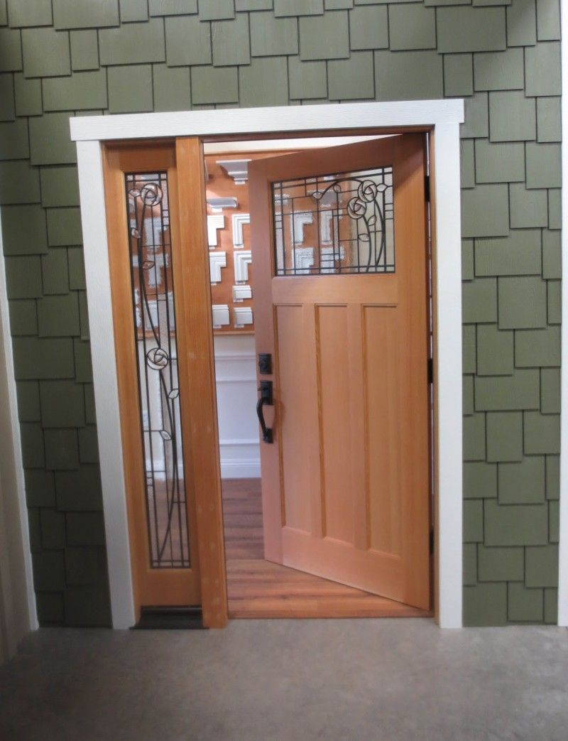 Exterior chic modern craftsman lite decorative inswing fiberglass