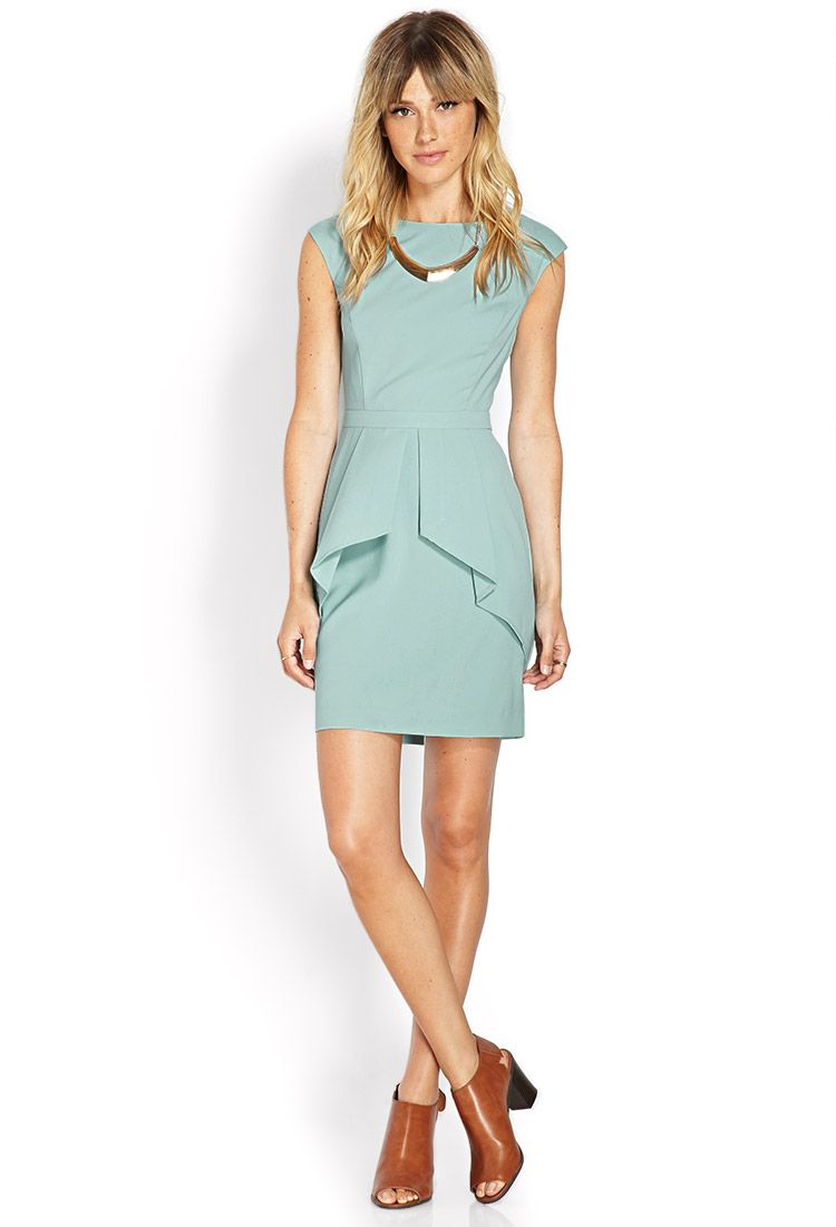 Crepe Woven Peplum Dress | My Favorites | Pinterest | Peplum dresses ...