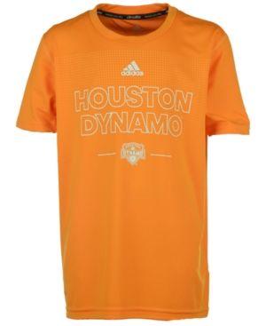 adidas Boys' Houston Dynamo Club Authentic T-Shirt - Orange M