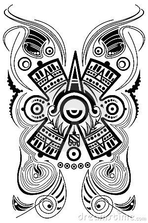 Symbole maya stylis tatouage vecteur tatouage pinterest symboles mayas maya et vecteur - Symbole amerindien tatouage ...