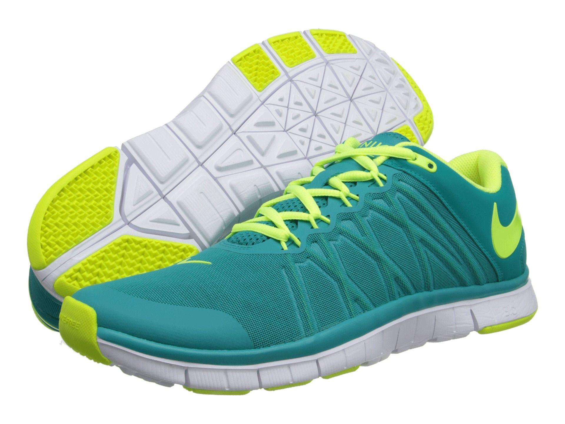 Mens Shoes Nike Free Trainer 3.0 Turbo Green/White/Volt