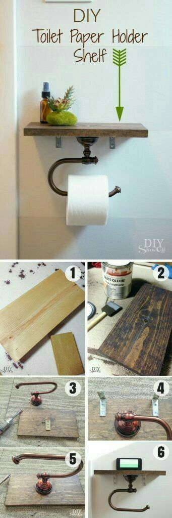 Pin By Melina Osman On Hand Made Things Diy Toilet Paper Holder Rustic Bathroom Decor Toilet Paper Holder Shelf