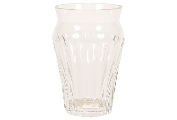 Baccarat Crystal Ribbed Vase on OneKingsLane.com