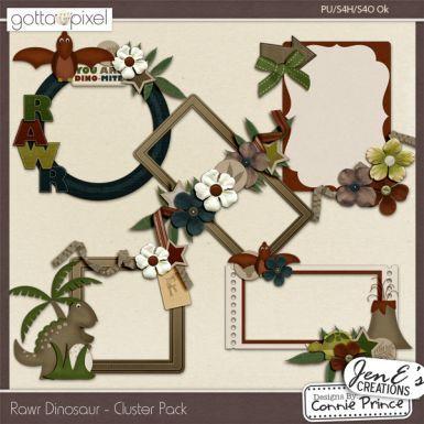 Rawr Dinosaur - Digital Scrapbook Cluster Pack. $2.99 at Gotta Pixel. www.gottapixel.net/