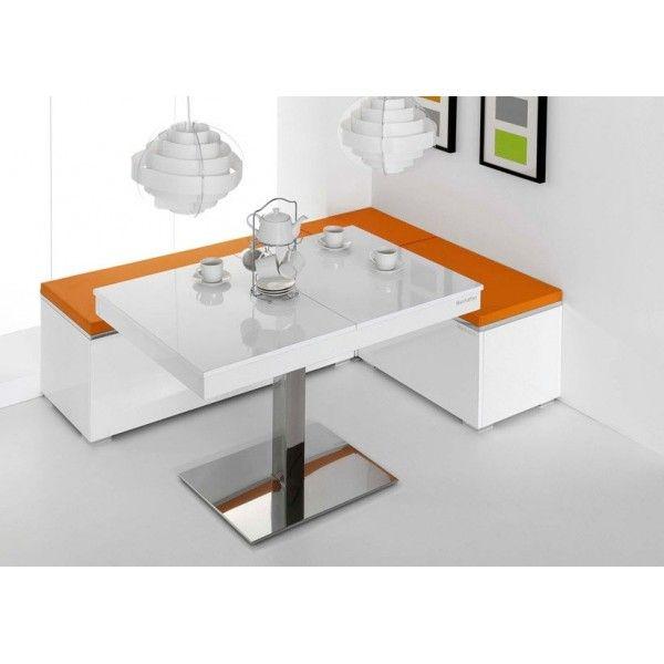 Mesa de cocina Manhattan, extensible con pie central. Fabricada en ...
