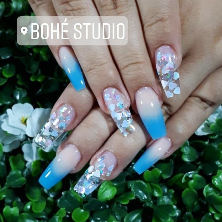 Sweet Glitters  --------------------------------- . . . . . . . . . . . . . . .  #antoniobohé #art #babyboomernails #beauty #beautynails #bestnails #blueglitter #bohestudio #dopenails #glitters #gold #hudabeauty #nail #nailart #nailartist #nailartistry #naillover #nailpromagazine #nails #nailsmagazine #nailsofinstagram #nailspolish #nailworld #nudenails #sparklenails #sparklynails #sweet #topnails #trendy #trendynails #trendynails #tutorials