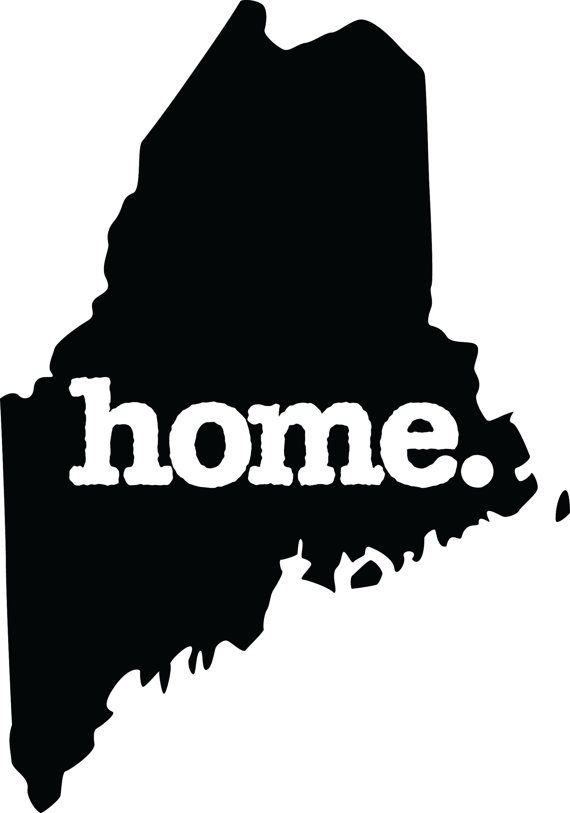 Maine Home  Decal Car or Laptop Sticker | Cricut in 2019
