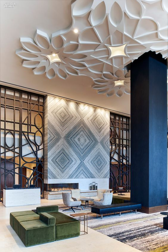 This is our daily lobby design ideas lobby designs hotel for Hotel door decor