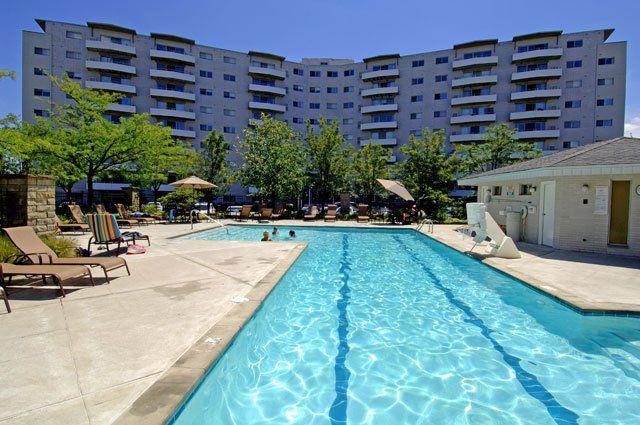 Outdoor Pool @  The Hamptons Luxury Apartments  Beachwood, OH