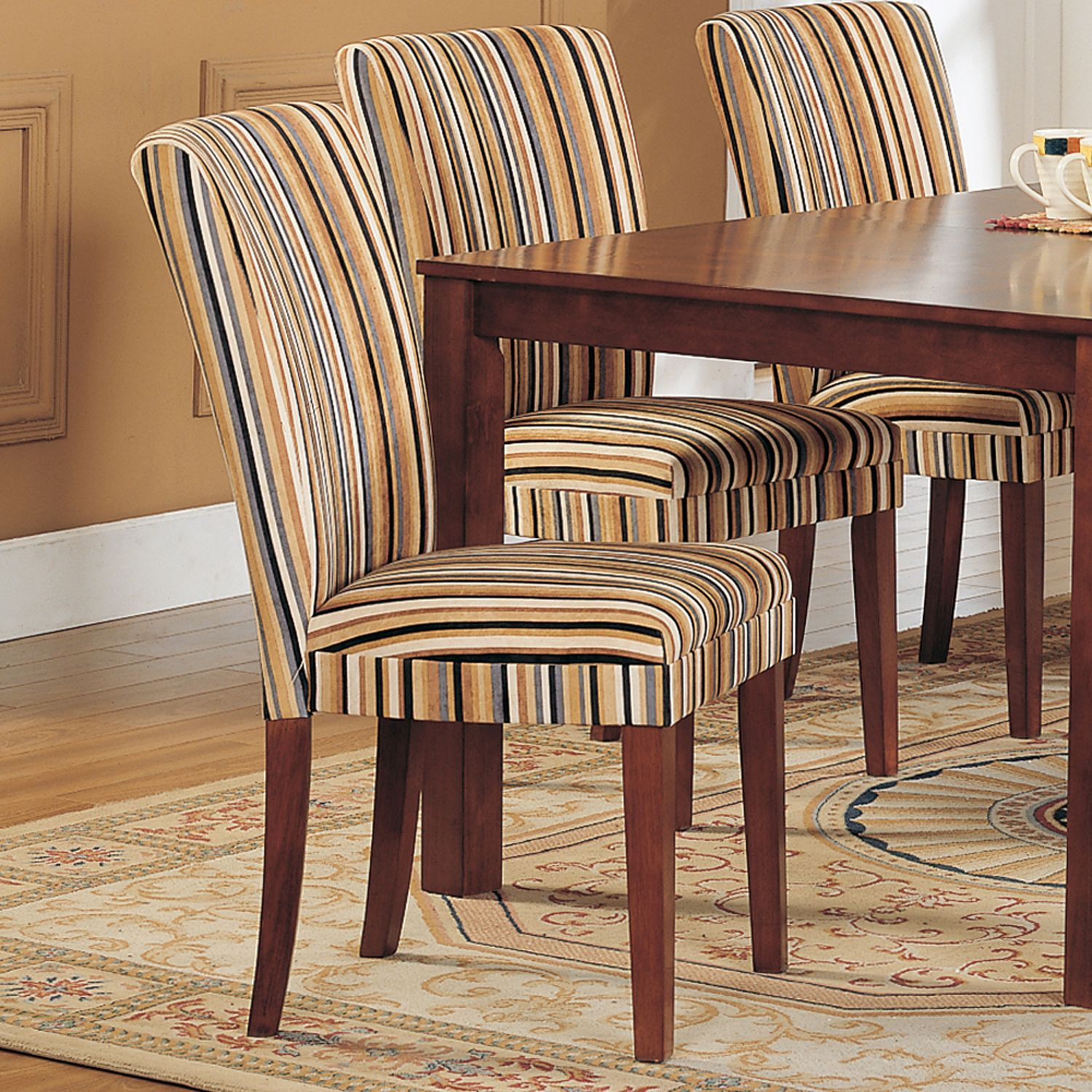 Oxford Creek Striped Upholstered Dining Chair Set Of 2 Multi