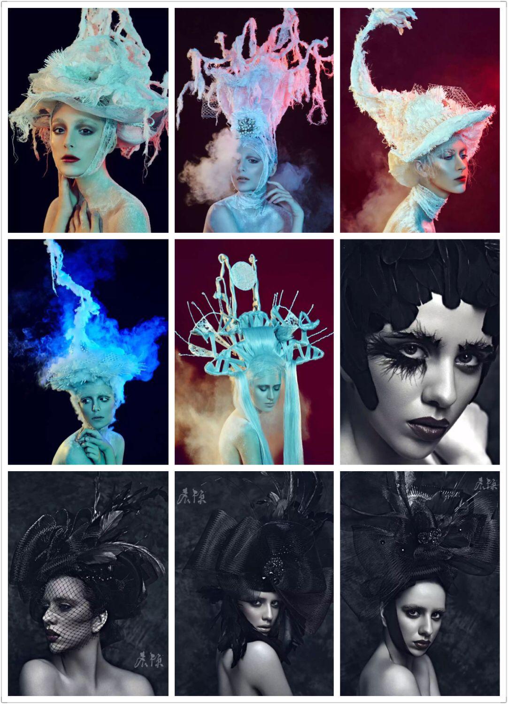 弟子的头饰设计和化妆造型 Art, Poster, Witchcraft