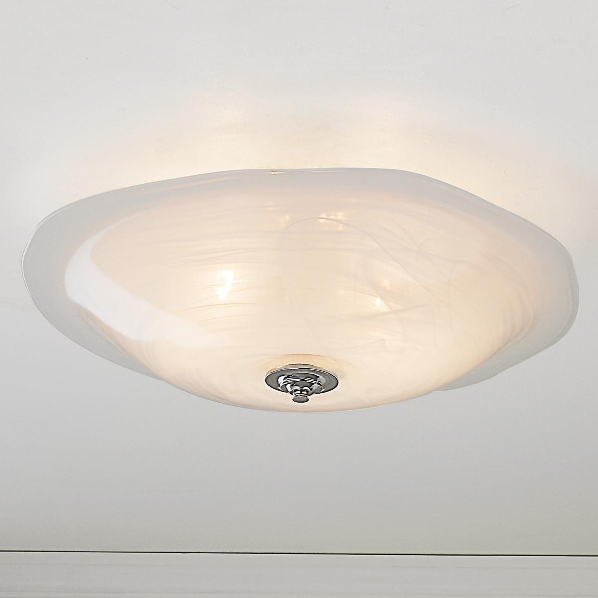 Large Cloud Art Glass Ceiling Light Like Sunlight Filtering