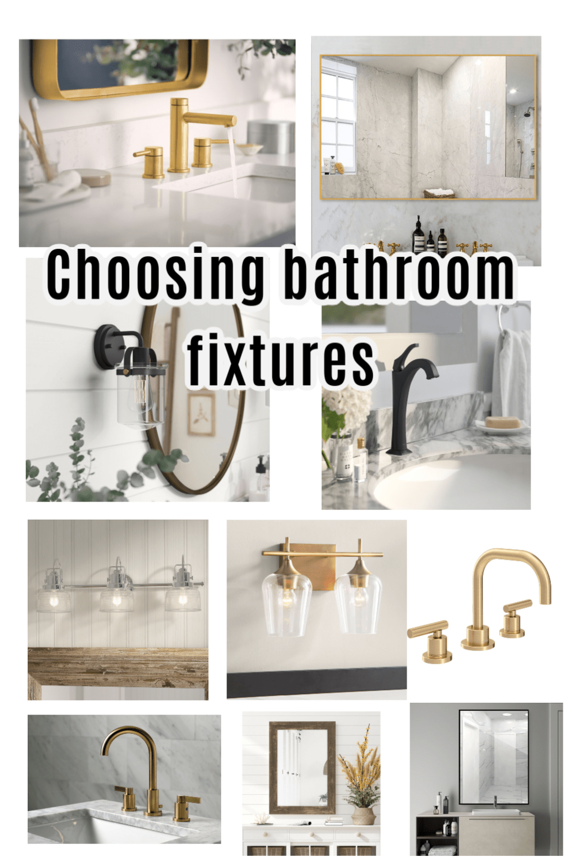 Photo of Choosing bathroom fixtures – The Farmhouse Life #bathroomfixtures People ask me …