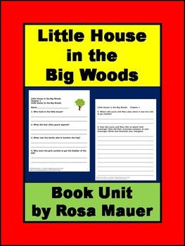 Little House In The Big Woods Literacy Activities Literacy