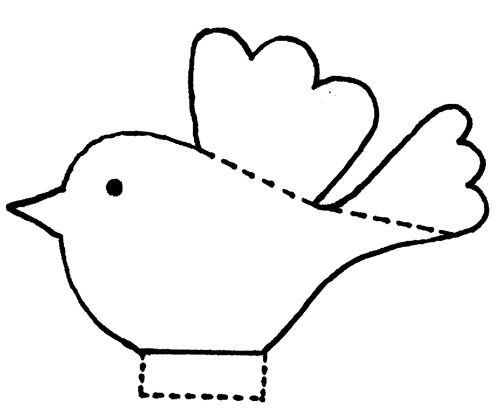 Easy Paper Bird Template; Could Make Multiple Birds And Hang As A