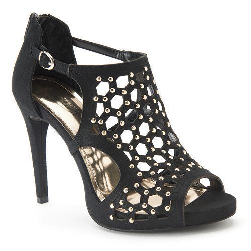High heels - Jennifer Lopez Women's Studded Gladiator Peep-Toe High Heels