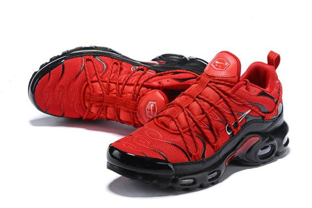 d83e61f717d Drake Reveals Nike Air Max Plus For Stage TN 2019 Bright Red Black Men s  Running Shoes Sneakers