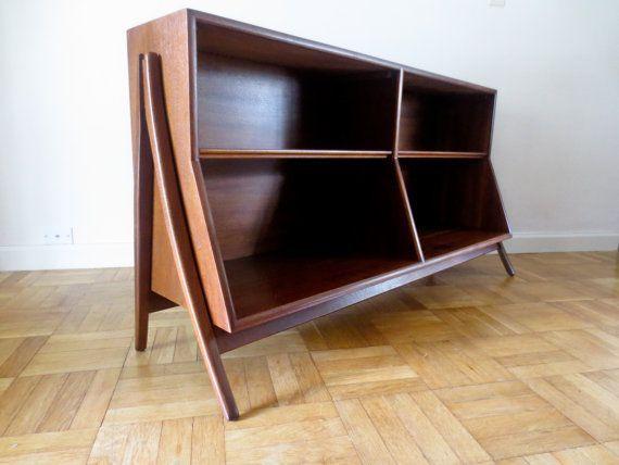 mid century modern bookcase bookshelf by