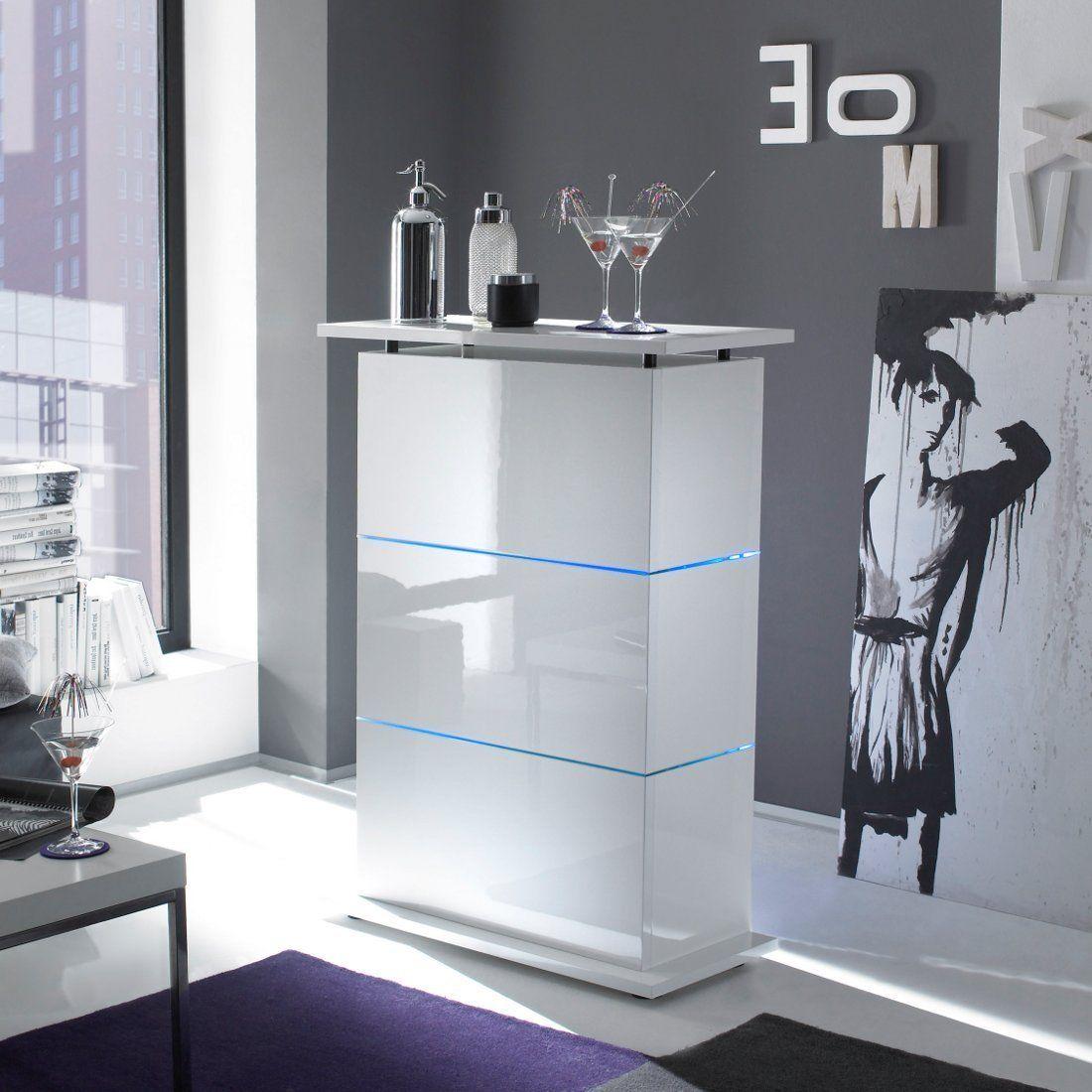 Amazon.de: Bartisch Primo Minibar in weiß hochglanz | Hochglanz ...