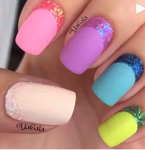 Colorful for the Spring! Nails Pinterest El color, Me encantas - modelos de uas