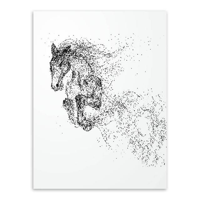 Modern Black White Ink Wild Animal Horse Wolf A4 Posters Nordic Living Room Wall Art Home Decor Canvas Painting Picture No Frame En 2020 Dibujos Tatuajes Interesantes Arte