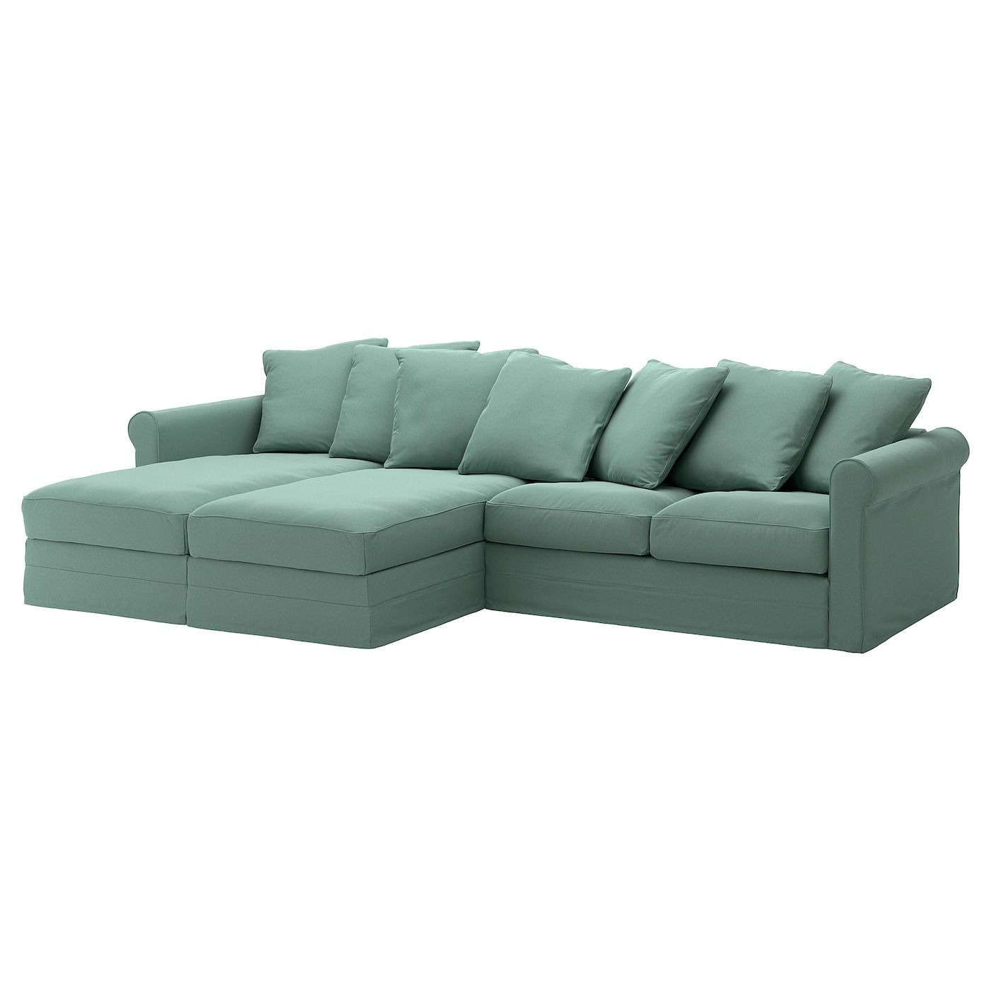 Gronlid Sectional 4 Seat With Chaise Ljungen Light Green