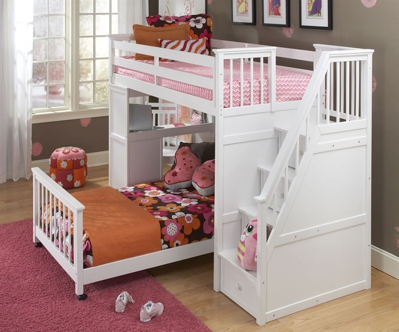 Amazing Girls Loft Bed With Desk: Design Ideas And Benefits