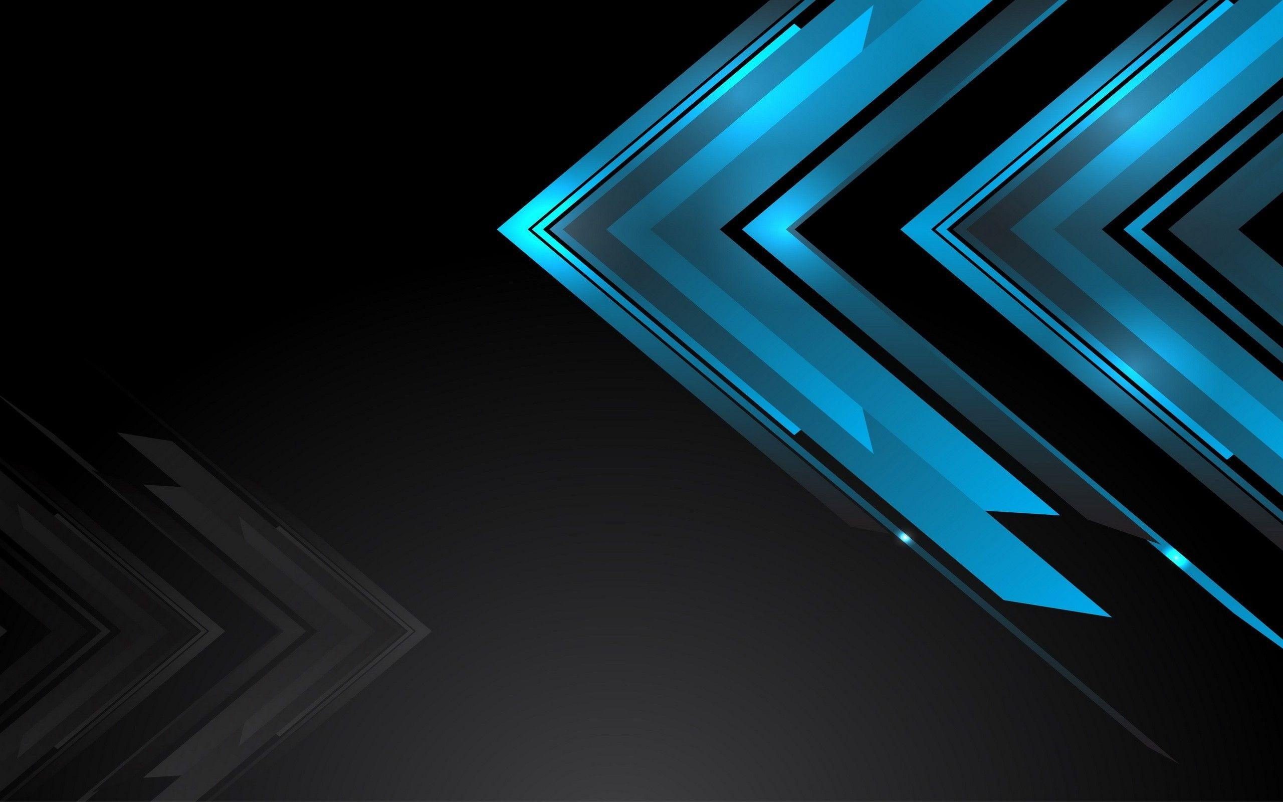 Res 2560x1600 Black Wallpaper Hd 1920x1200 Black And Blue Tech Wallpaper Black Wallpaper Black And Blue Background Wallpaper
