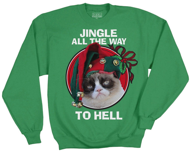 Grumpy Cat Ugly Christmas Sweater.Grumpy Cat Grumpy Cat Ugly Christmas Sweater Christmas