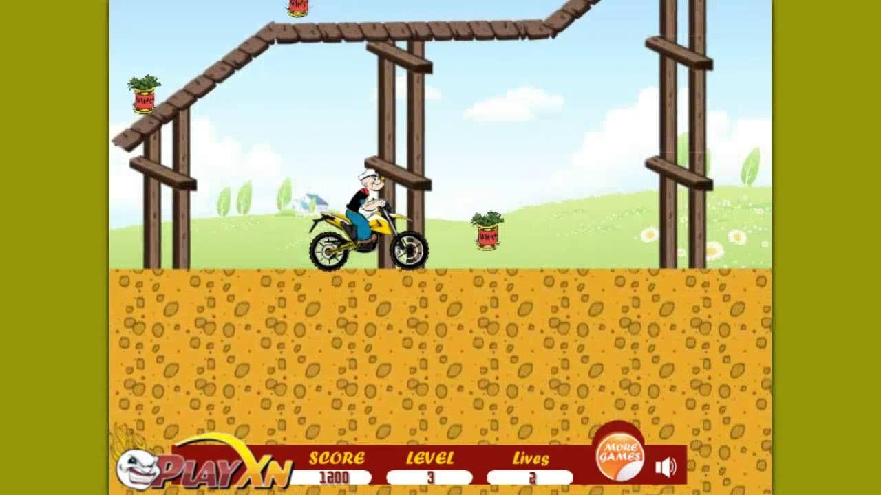 Popeye Motorbike Ride Amp Stunts Stunts Riding Popeye
