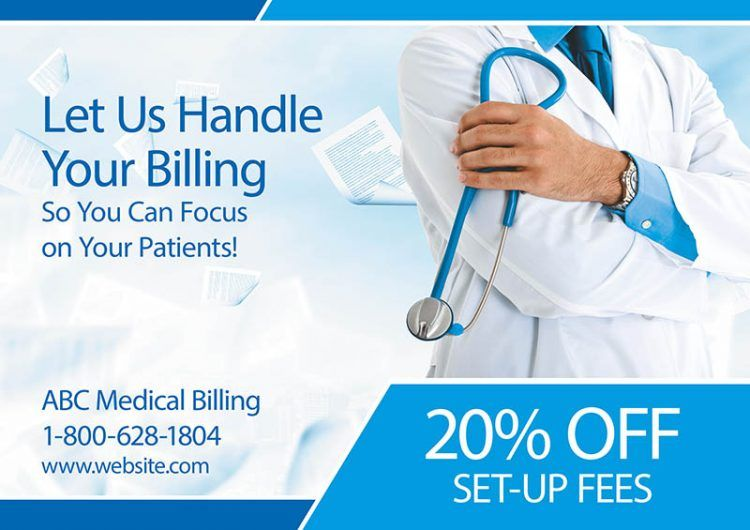 Medical billing postcard direct mail postcards medical