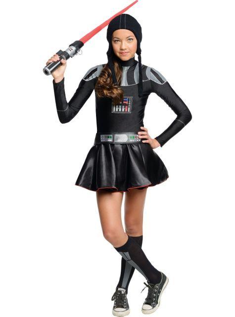 Birthday Theme u0026 Seasonal Party Goods. Halloween Costumes GirlsGirl CostumesHalloween IdeasHalloween ...  sc 1 st  Pinterest & Girls Darth Vader Deluxe Costume - Star Wars - Party City | Sus ...