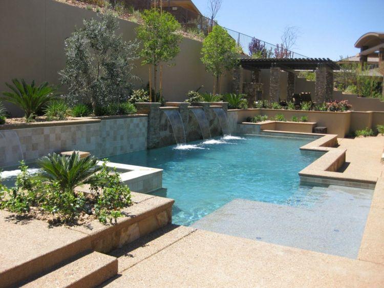 Pooldesign » Pool Im Garten U2013 25 Gestaltungsideen Mit Mediterranem Flair  #flair #garten #