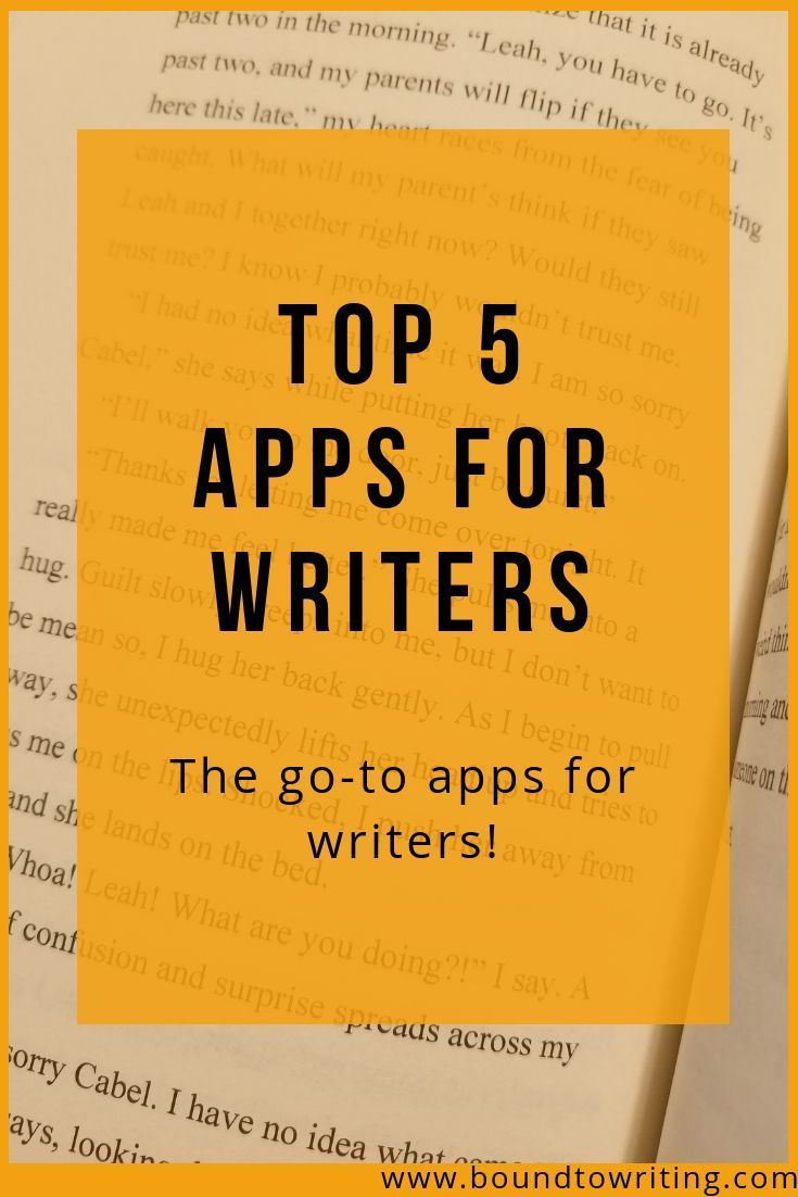 Top 5 Apps for Writers - Bound to Writing