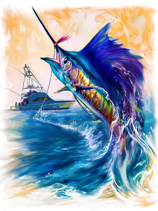 Artist Mike Salven Fish Art Fish Painting Marine Art