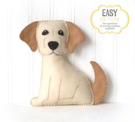 Golden Lab Sewing Pattern, Dog Hand Sewing Pattern, Felt Labrador ...