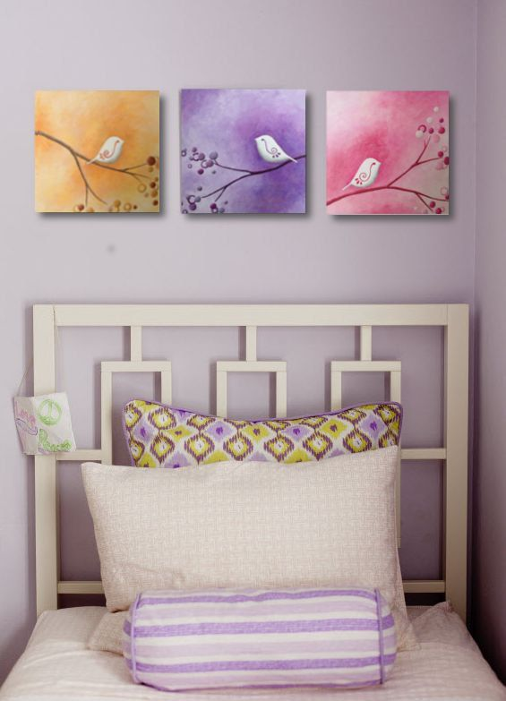 Abstract+Whimsical+Painting+Three+8x8+by+LittleSparrowGallery