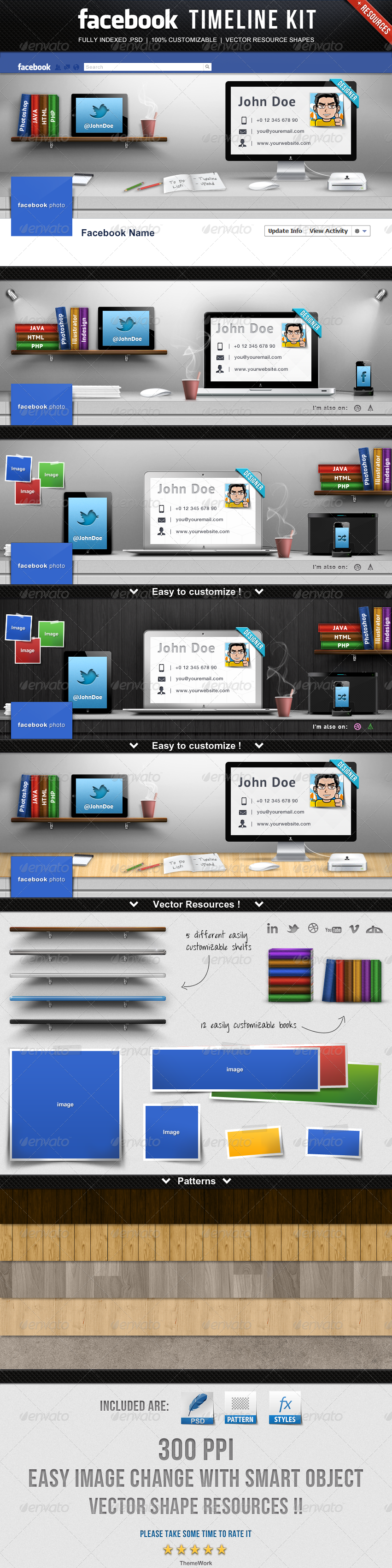 Facebook Timeline Kit | Facebook timeline, Timeline covers and ...