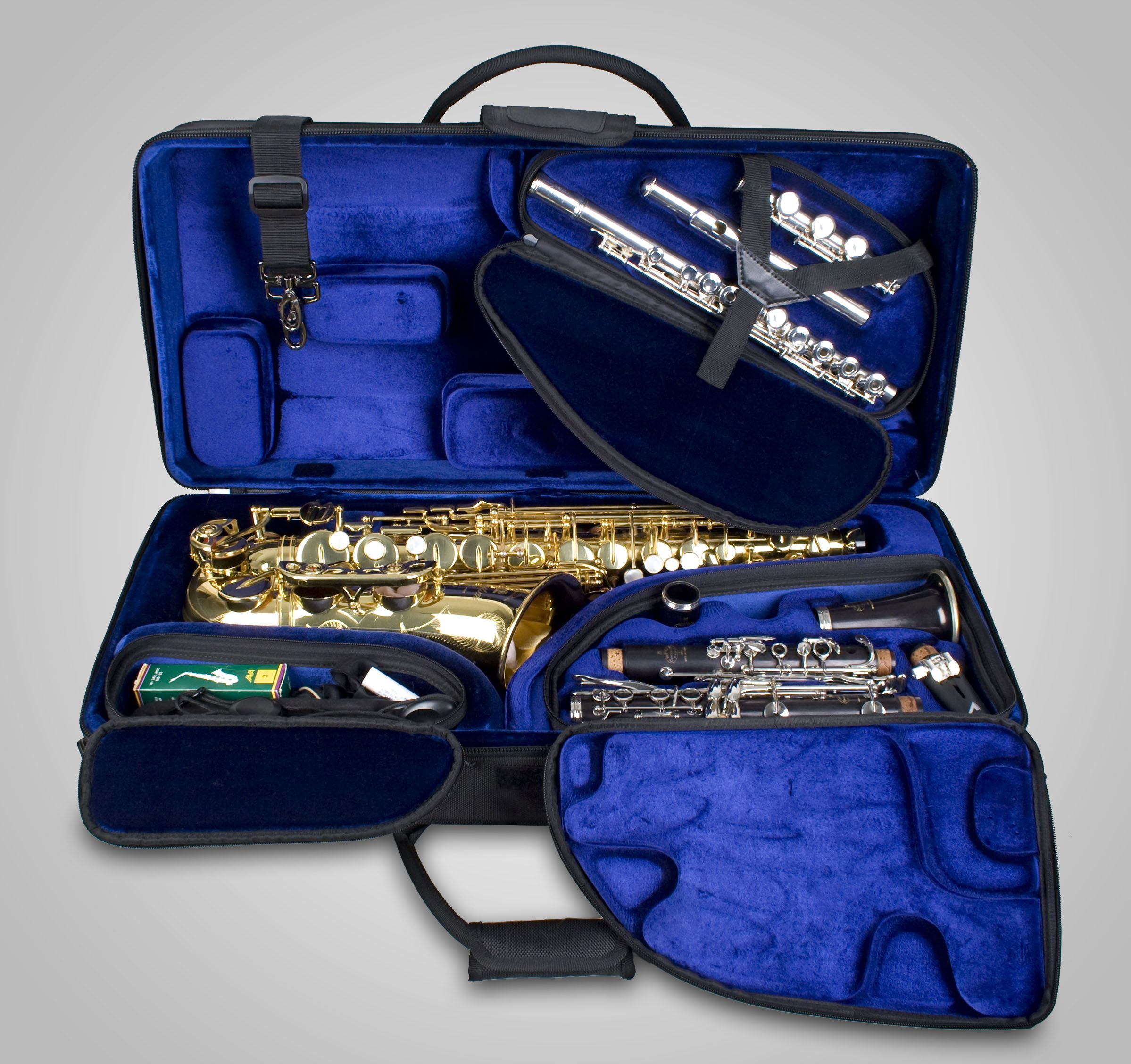c14fc6f6b5c Protec Alto Sax Clarinet Flute TRI-PAC Case (Model PBTRIALT ...