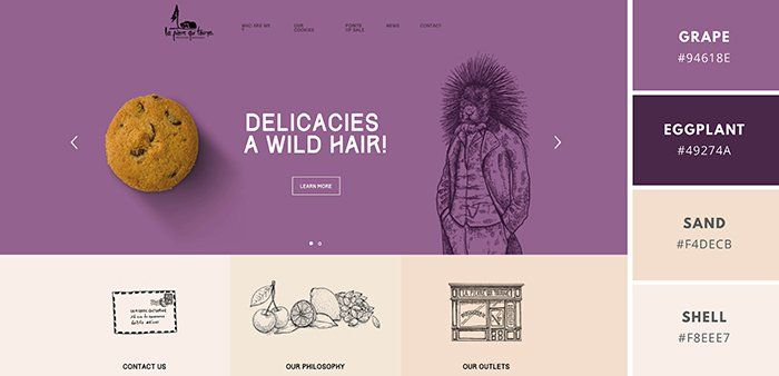Purple Color Schemes website color schemes: the palettes of 50 visually impactful