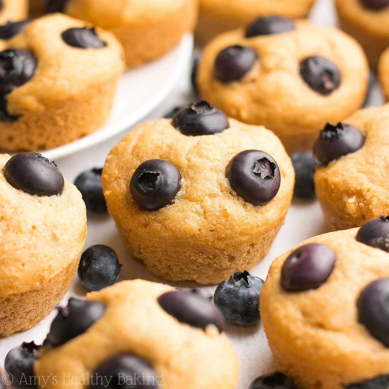 Healthy Blueberry Buttermilk Pancake Bites {Recipe Video