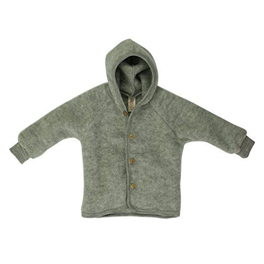 Baby jacke fleece schurwolle engel natur