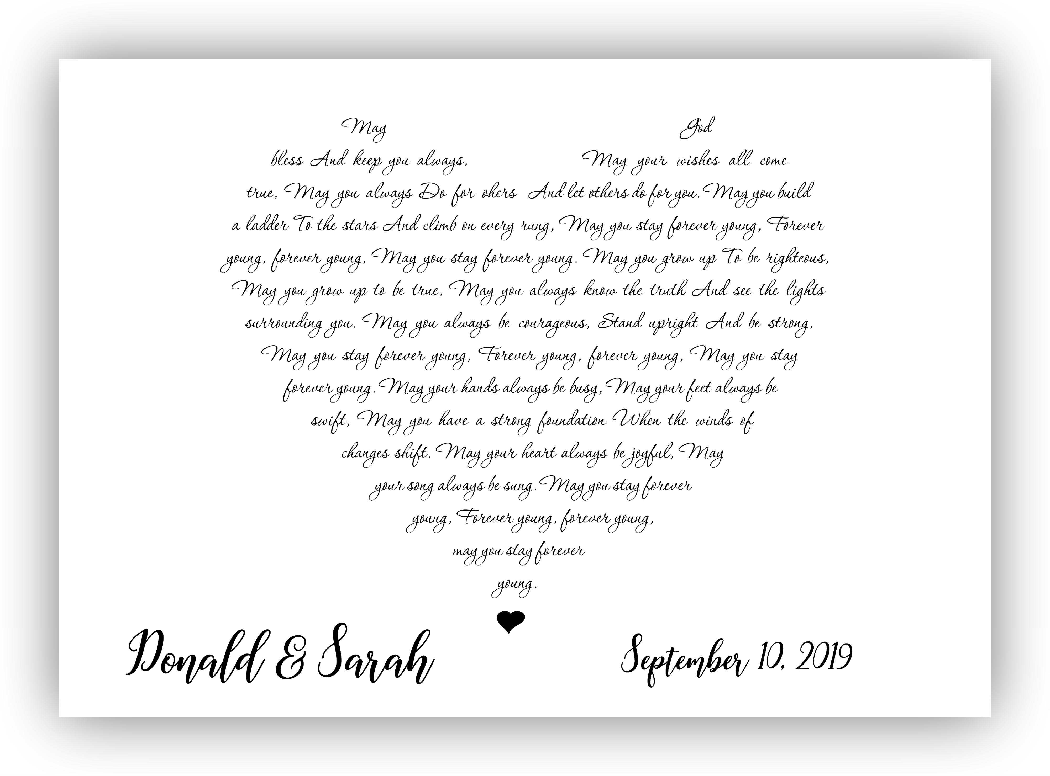 Custom Any Song Lyrics Heart Lyrics Wall Art Wedding Song Heart Typography Any Song Lyrics Printable Song Print W Wedding Song Lyrics Wedding Songs Songs